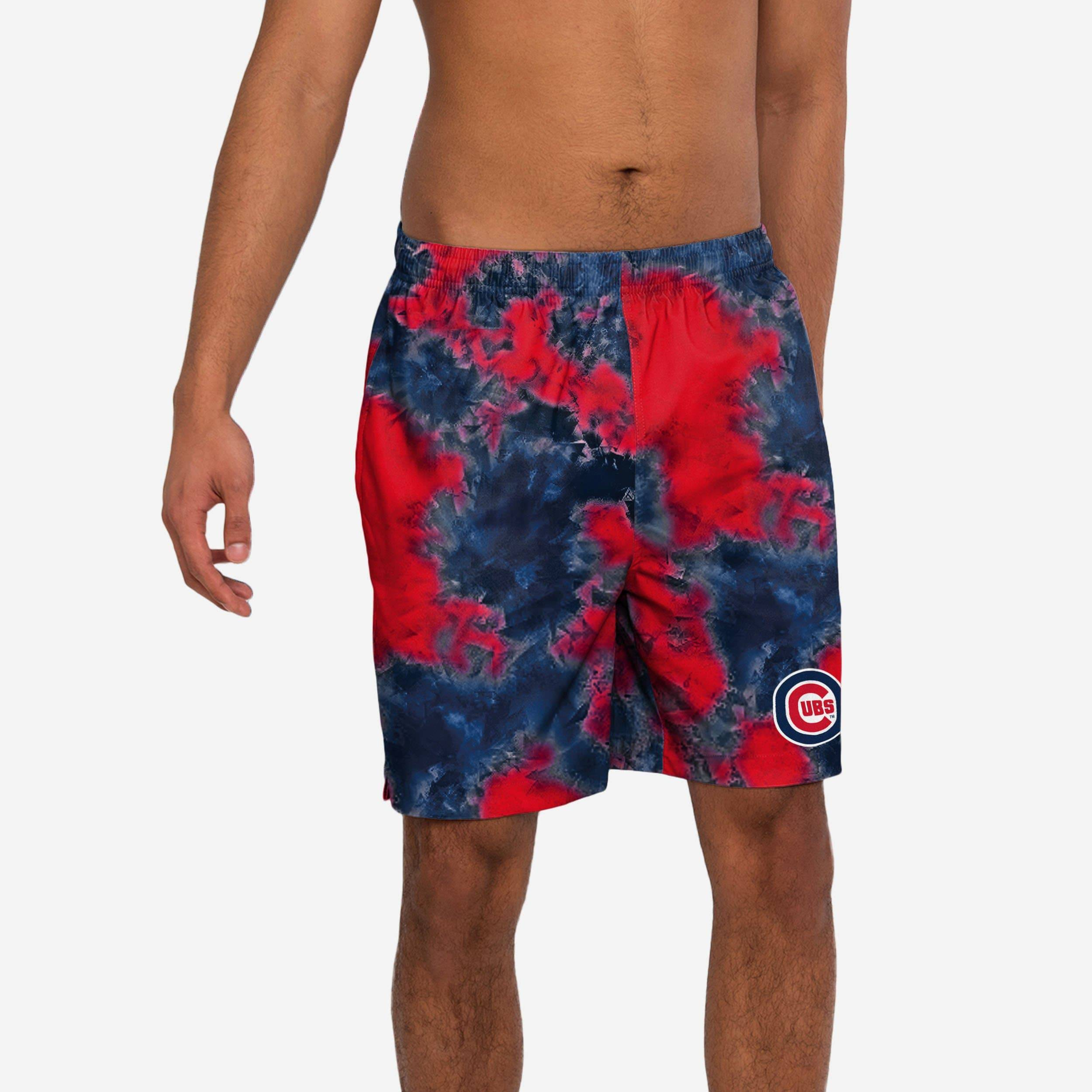 FOCO Chicago Cubs To Tie-Dye For Swimming Trunks - S