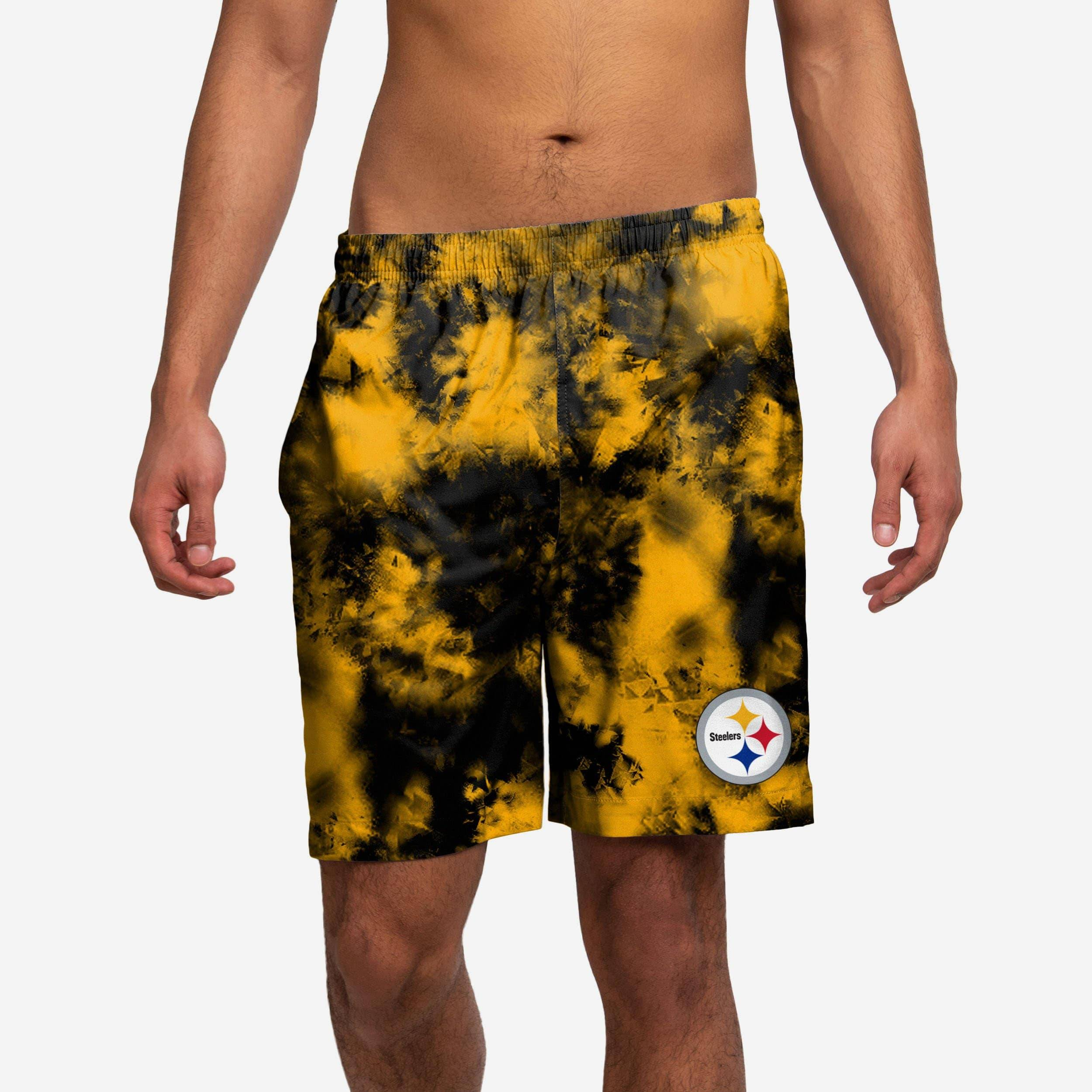 FOCO Pittsburgh Steelers To Tie-Dye For Swimming Trunks - 2XL