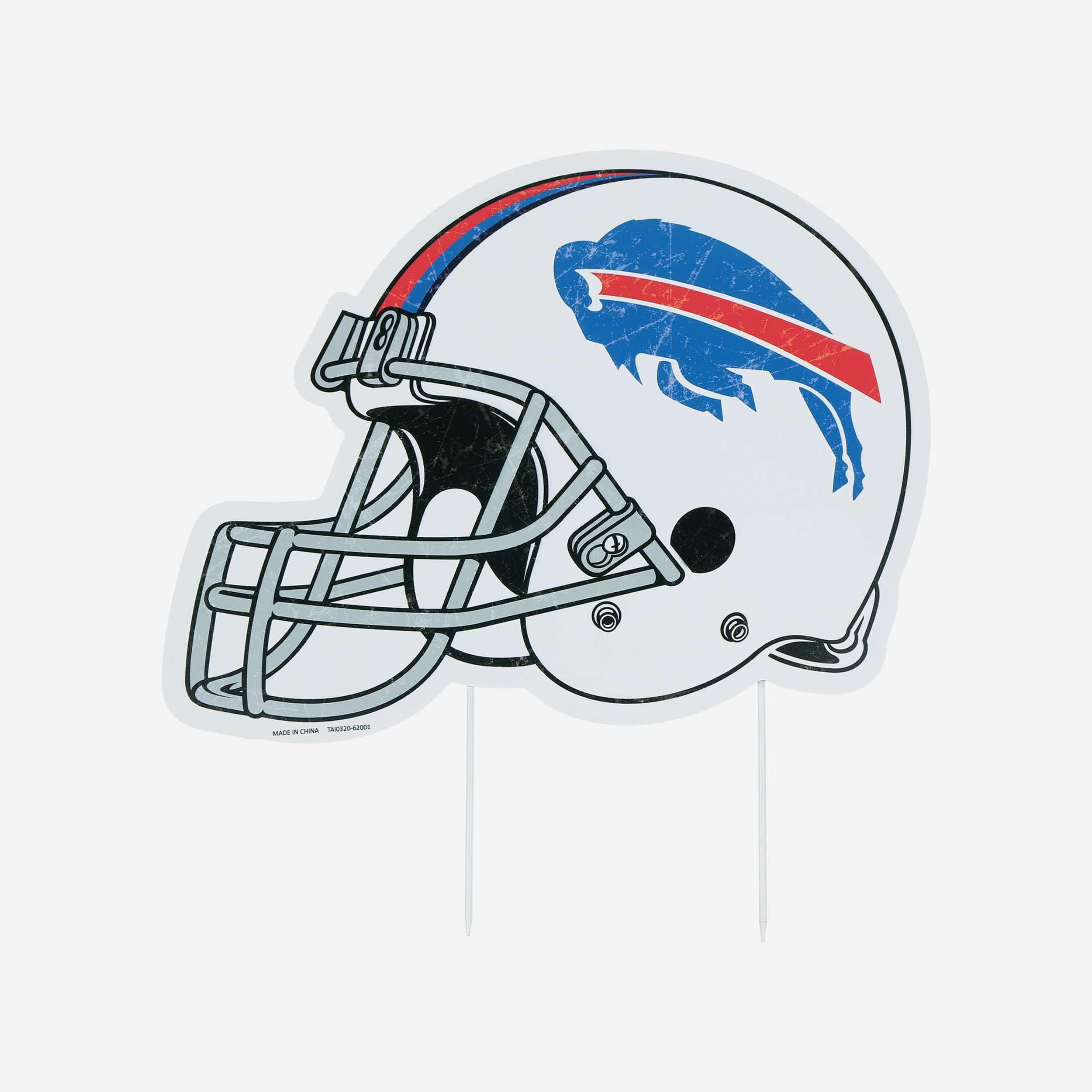 FOCO Buffalo Bills Home Field Stake Helmet Sign