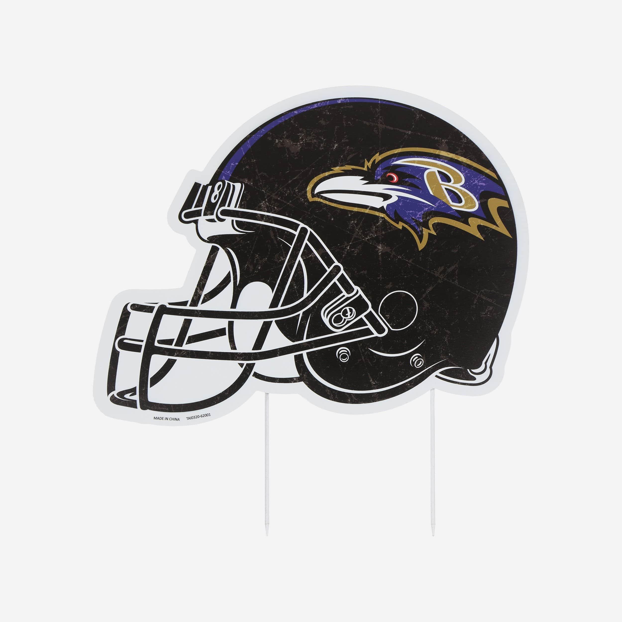 FOCO Baltimore Ravens Home Field Stake Helmet Sign