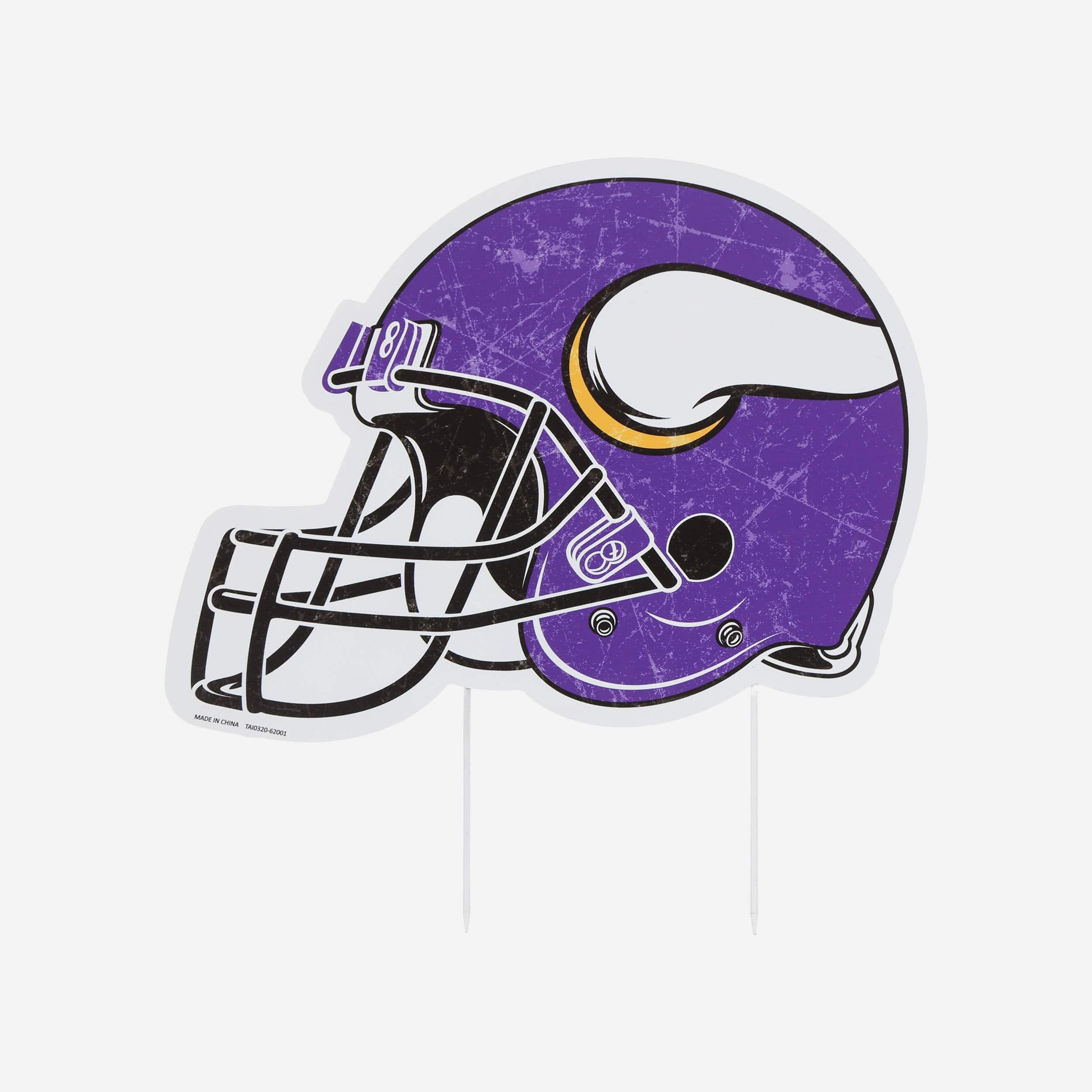 FOCO Minnesota Vikings Home Field Stake Helmet Sign