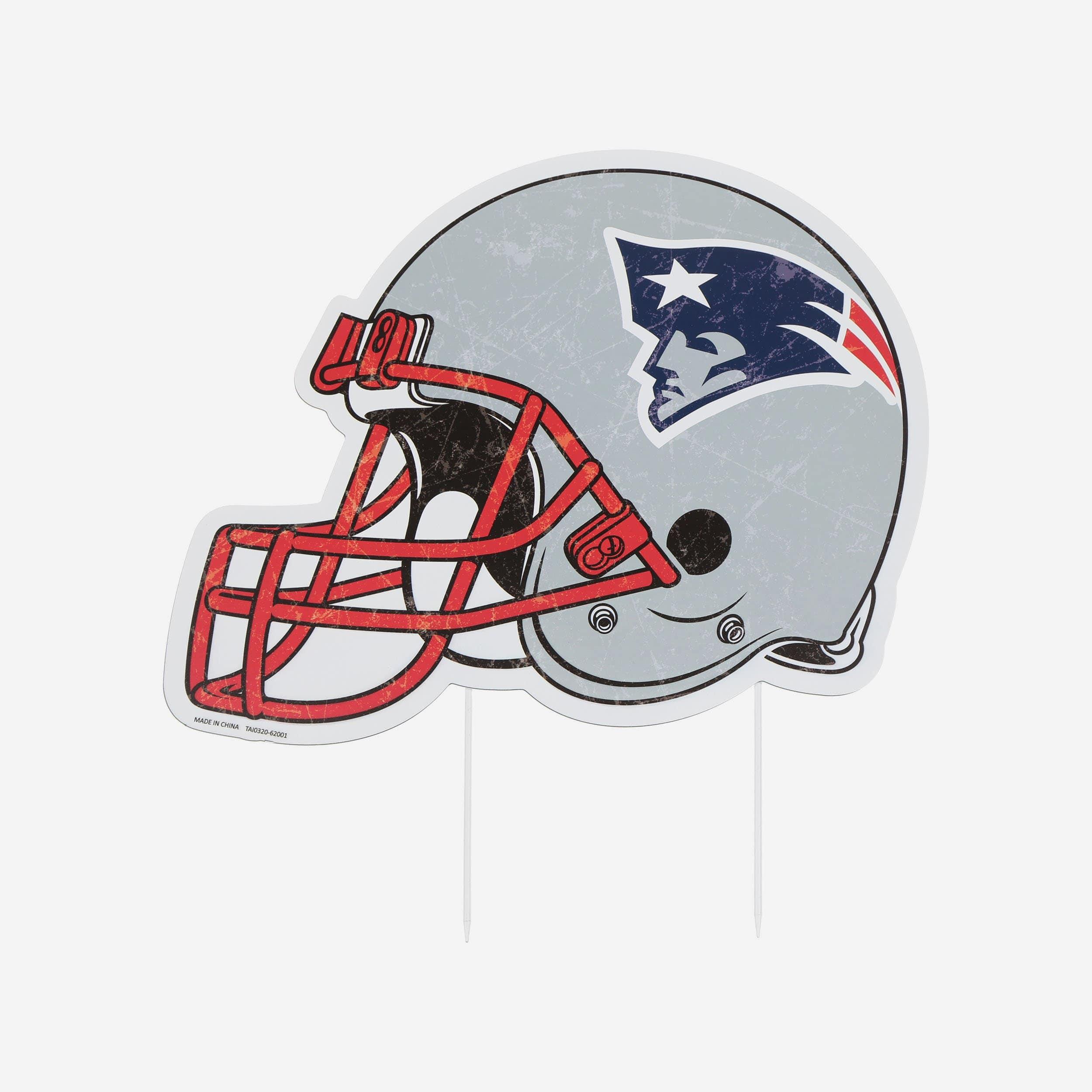 FOCO New England Patriots Home Field Stake Helmet Sign