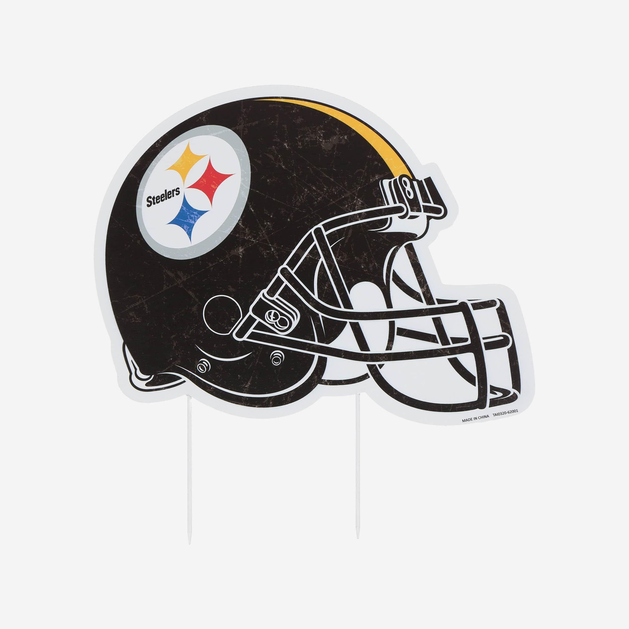 FOCO Pittsburgh Steelers Home Field Stake Helmet Sign