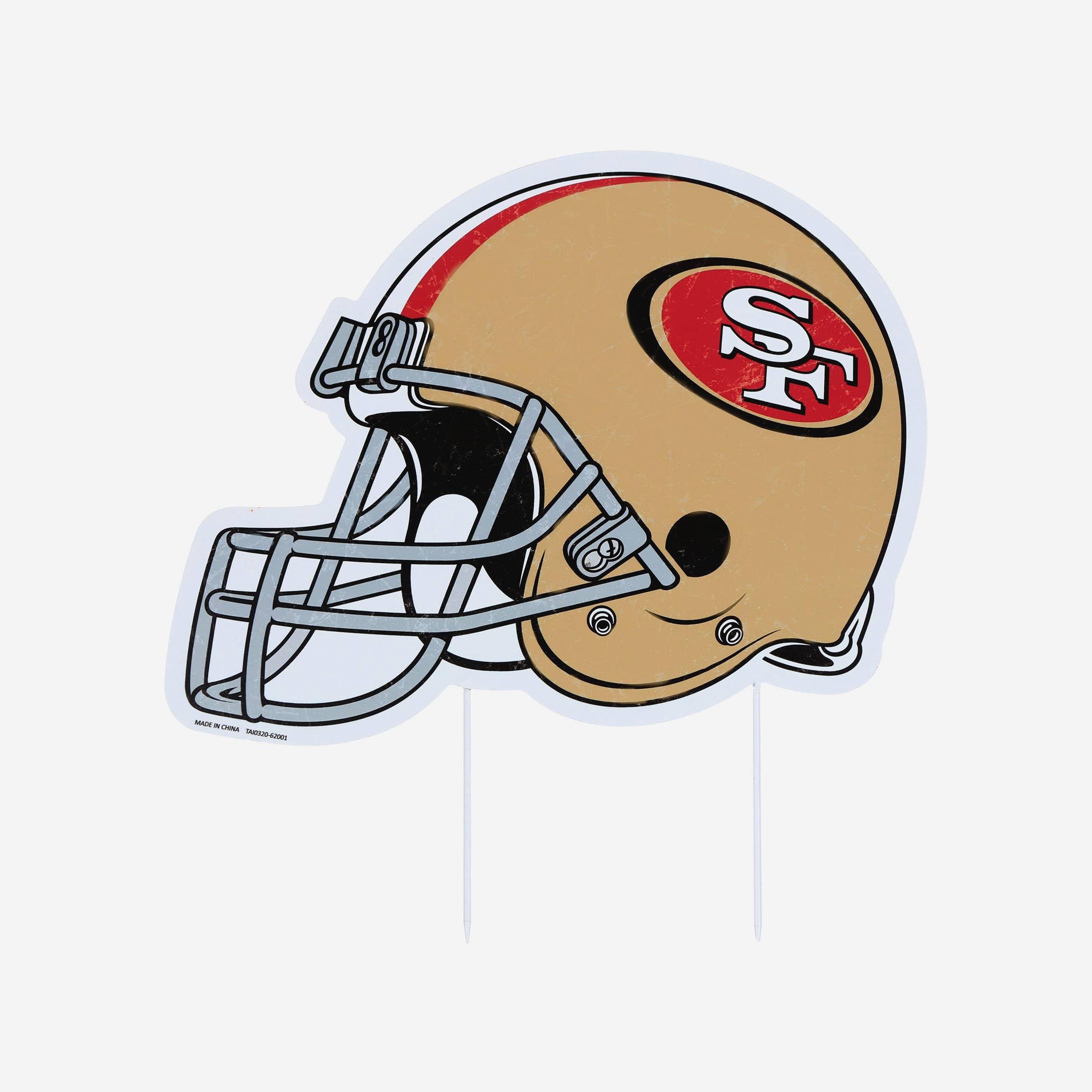 FOCO San Francisco 49ers Home Field Stake Helmet Sign