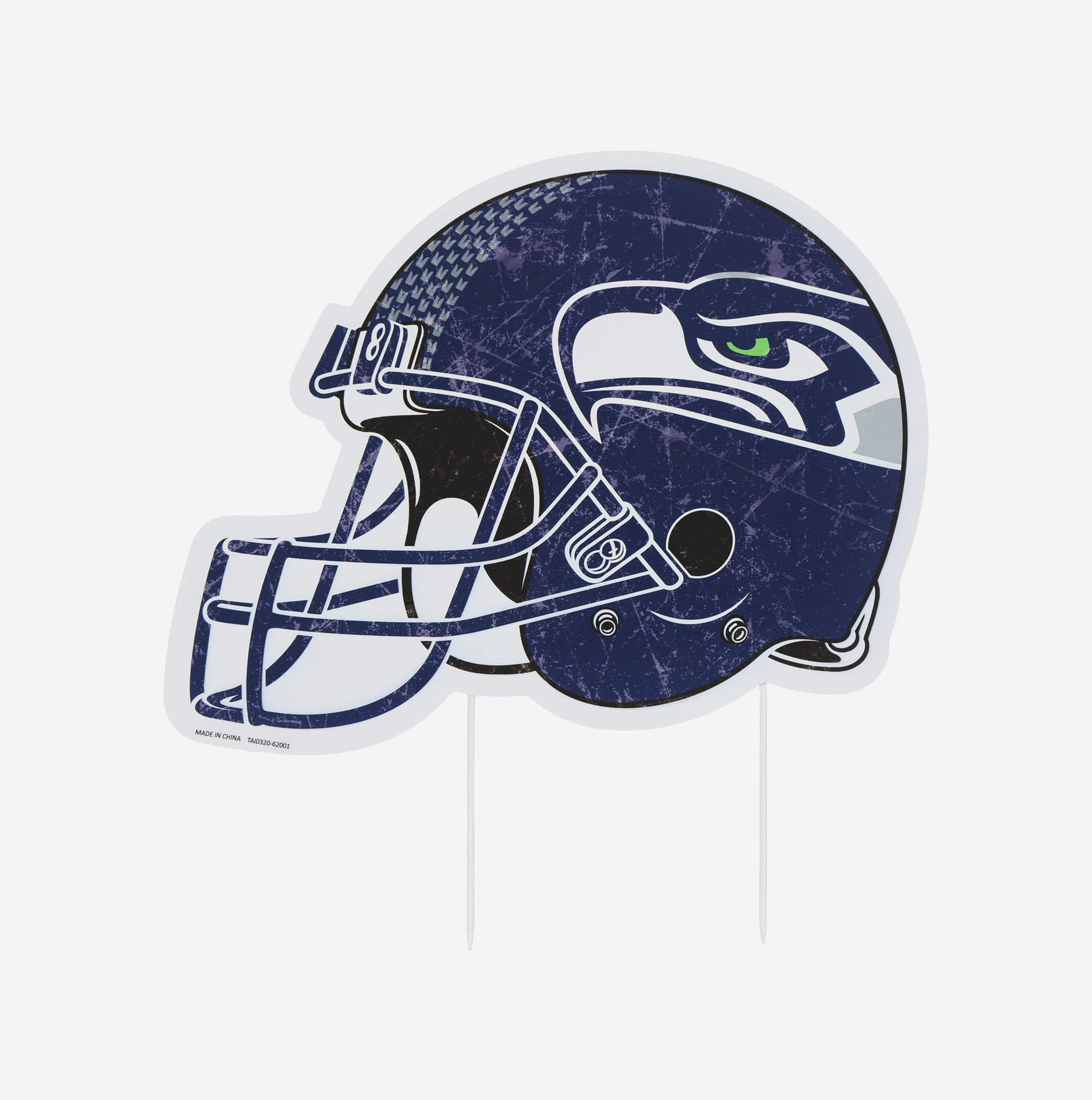 FOCO Seattle Seahawks Home Field Stake Helmet Sign