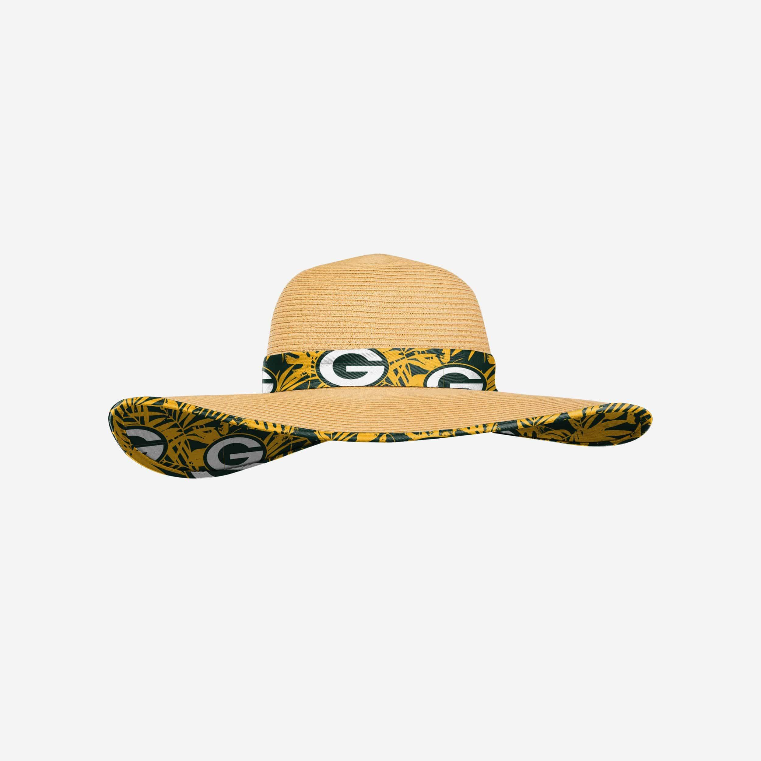 FOCO Green Bay Packers Womens Floral Straw Hat