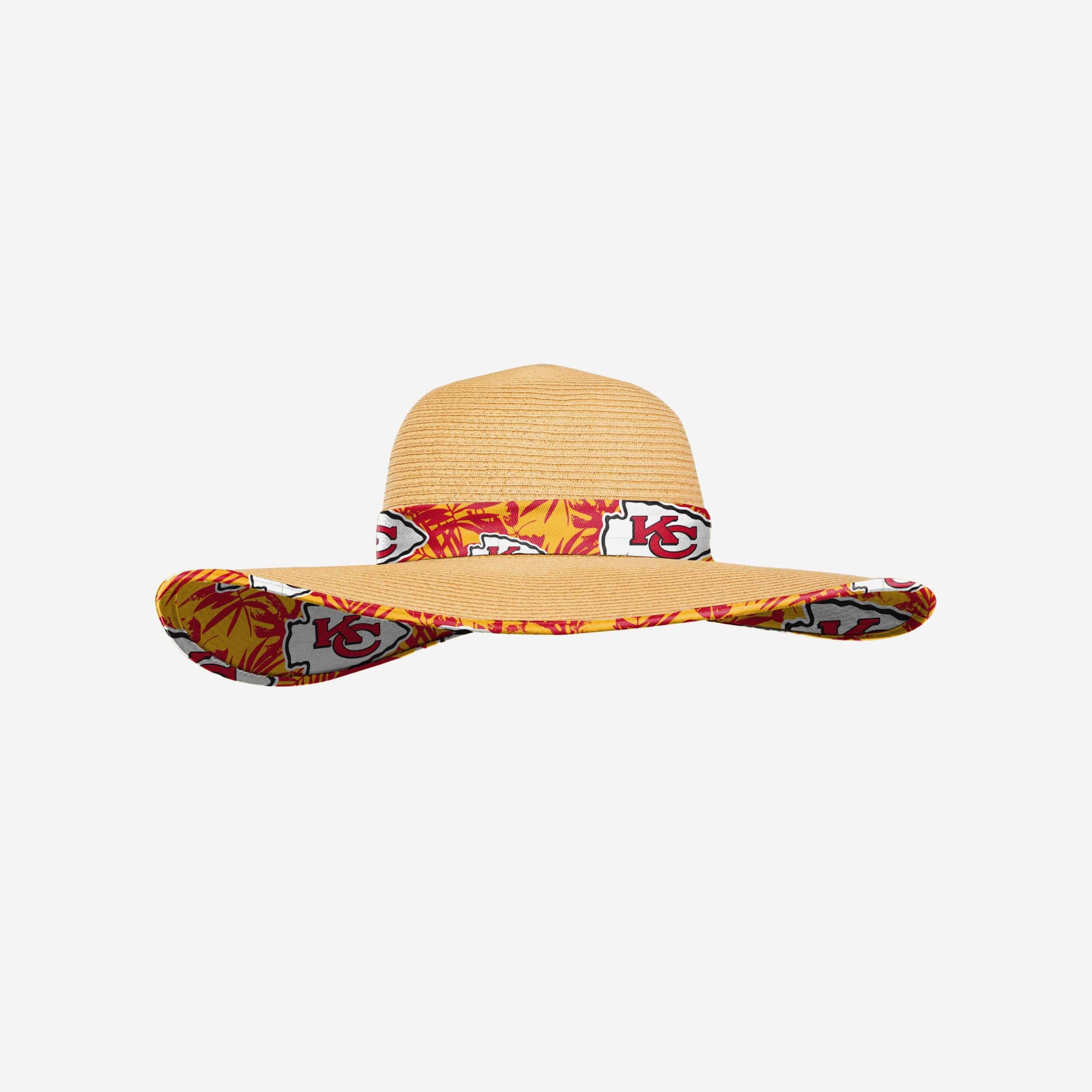 FOCO Kansas City Chiefs Womens Floral Straw Hat