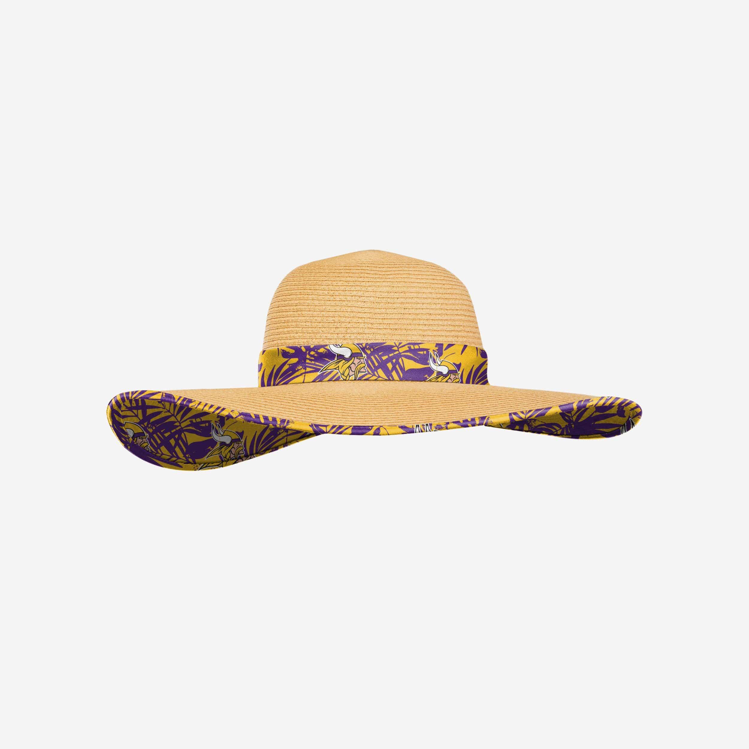 FOCO Minnesota Vikings Womens Floral Straw Hat