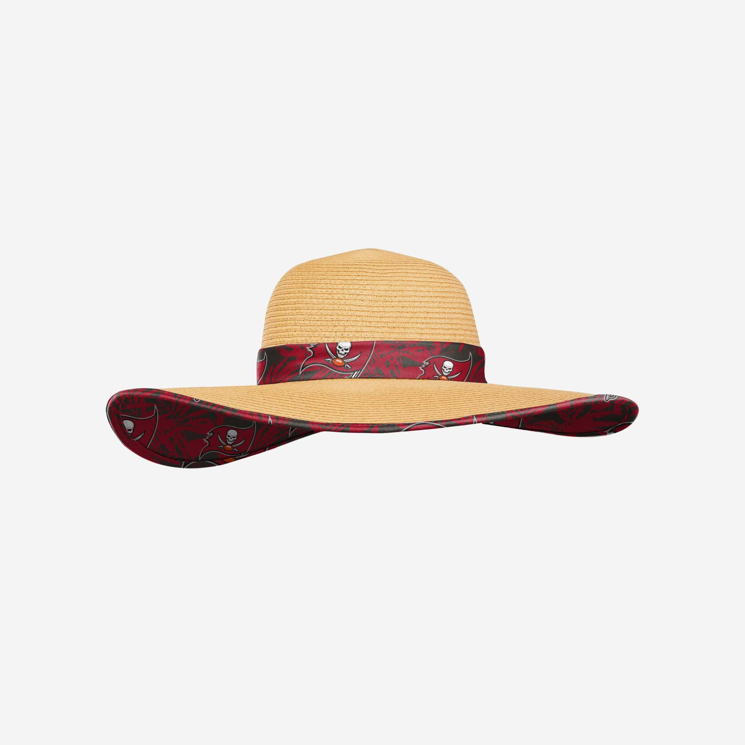 FOCO Tampa Bay Buccaneers Womens Floral Straw Hat