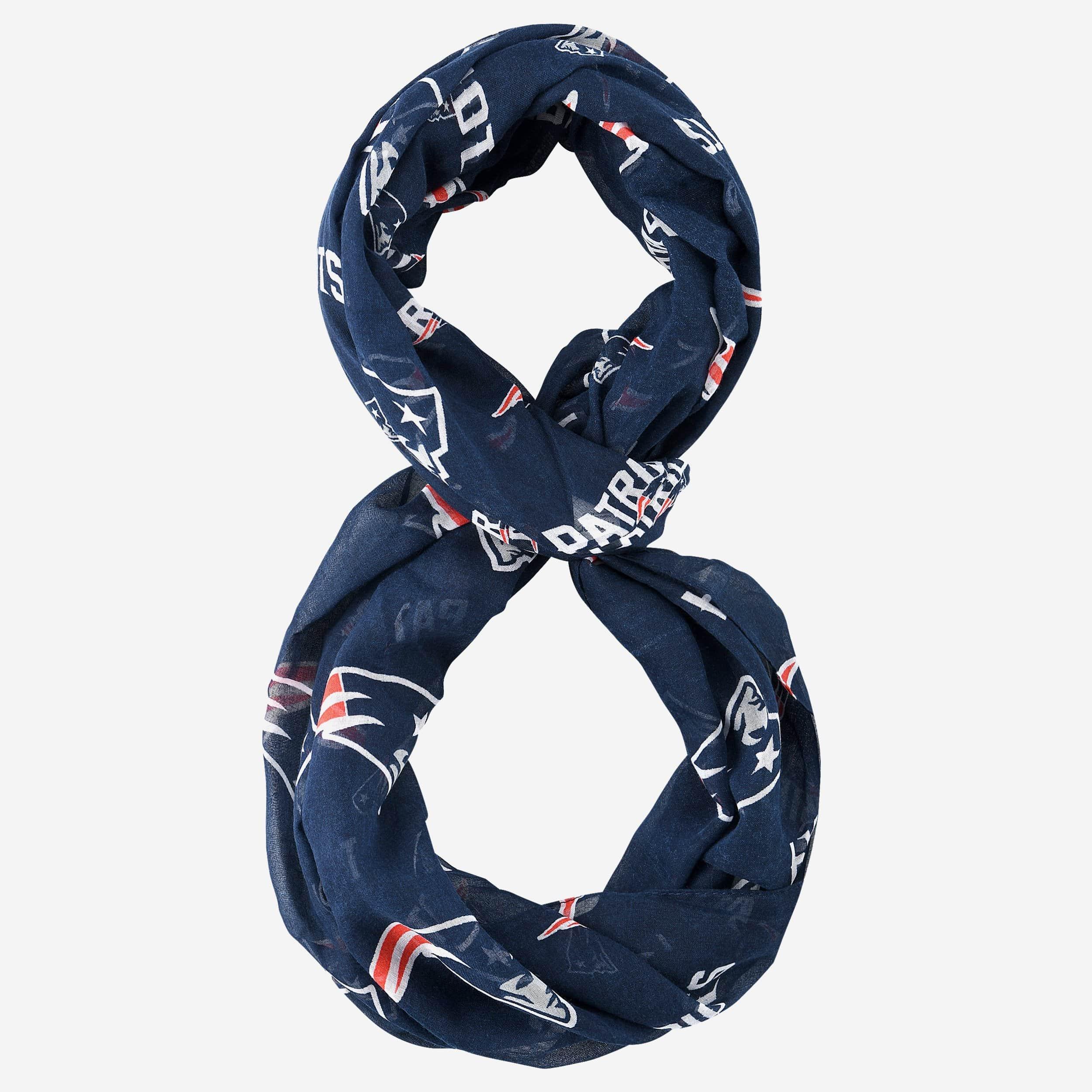 FOCO New England Patriots Team Logo Infinity Scarf