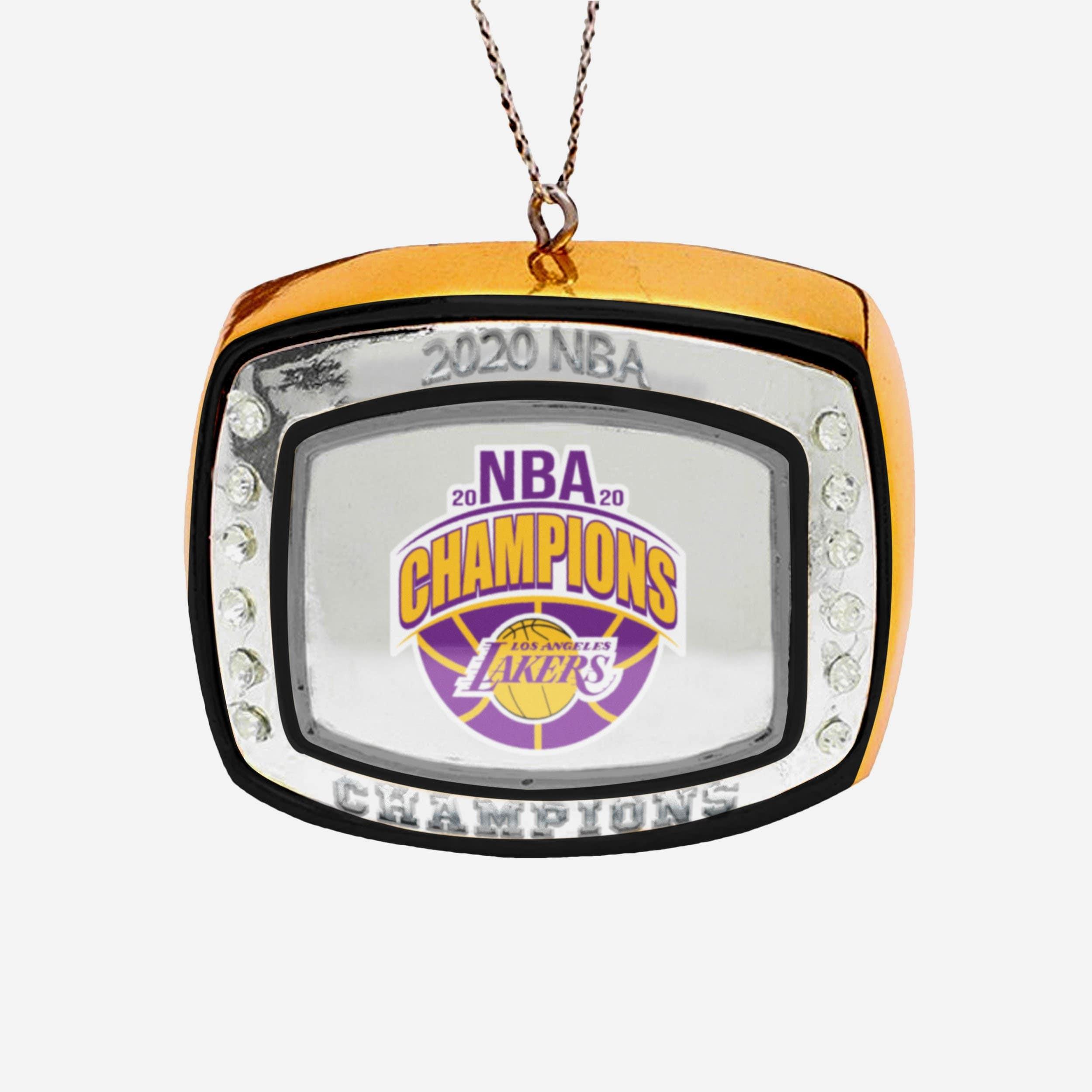 FOCO Los Angeles Lakers 2020 NBA Champions Ring Ornament