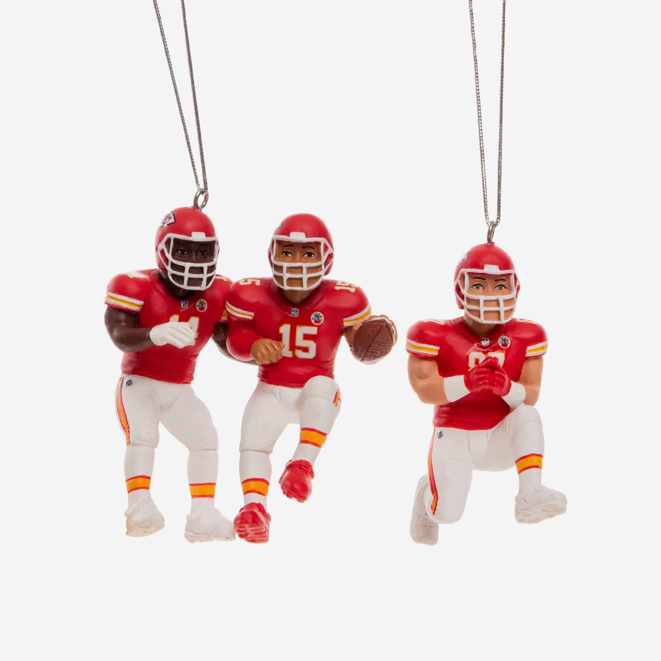 FOCO Kansas City Chiefs 3 Player Team Celebration Ornament