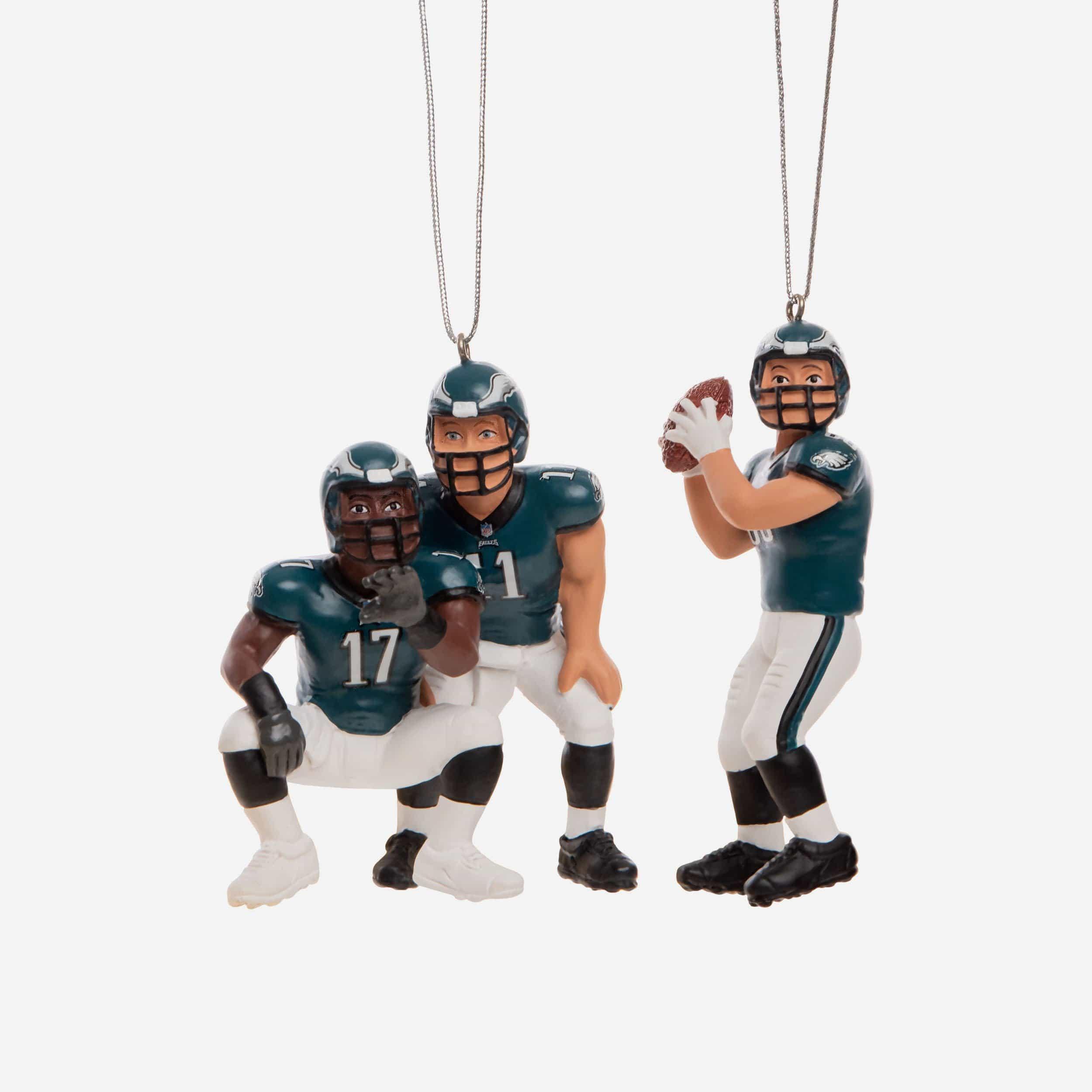 FOCO Philadelphia Eagles 3 Player Team Celebration Ornament