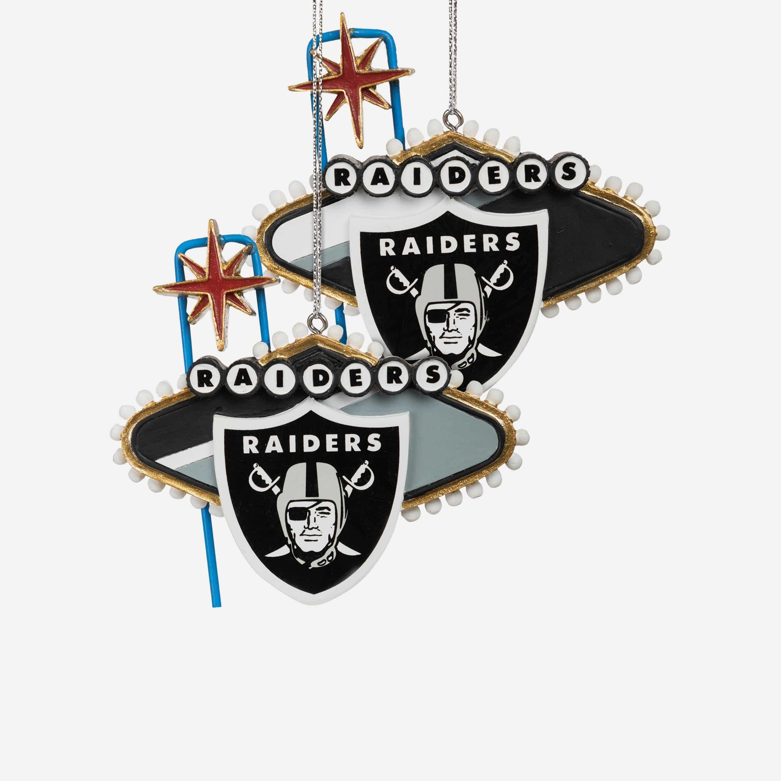 FOCO Las Vegas Raiders 2 Pack Thematic Ornament Set