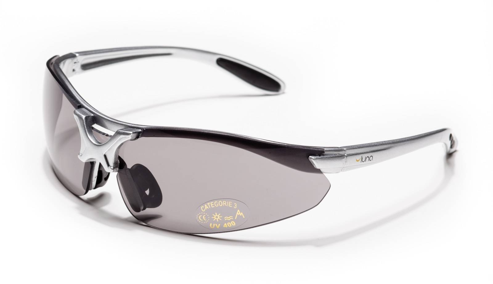 Luna Glasses Luna Orbit Running Cycling Sunglasses with Grey/Clear/Transparent Lenses (Grey Frame) Hard Protective Case