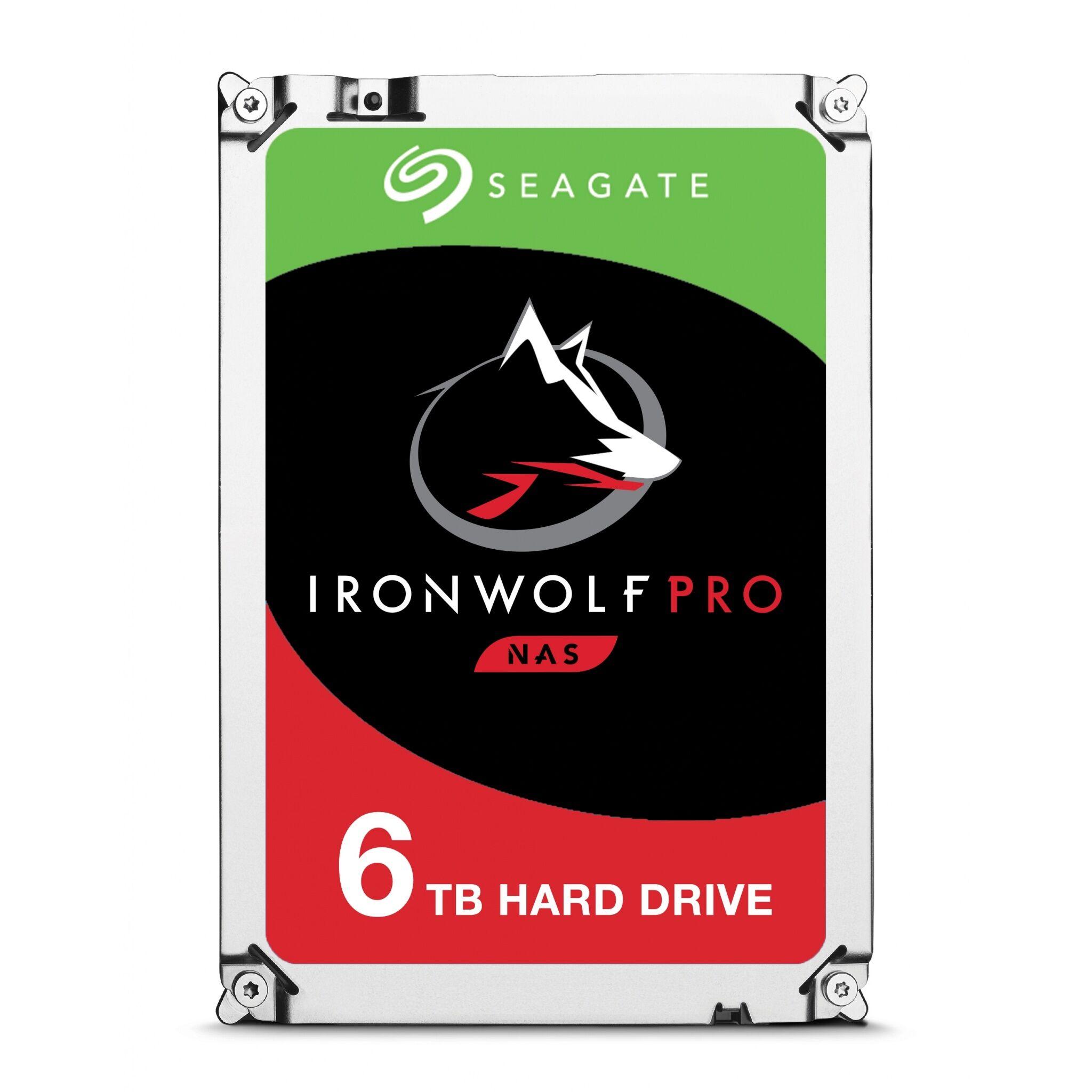 Seagate 6TB Seagate IronWolf Pro NAS 3.5-inch 7200RPM SATA III 6Gbps 256MB Cache Internal Hard Drive