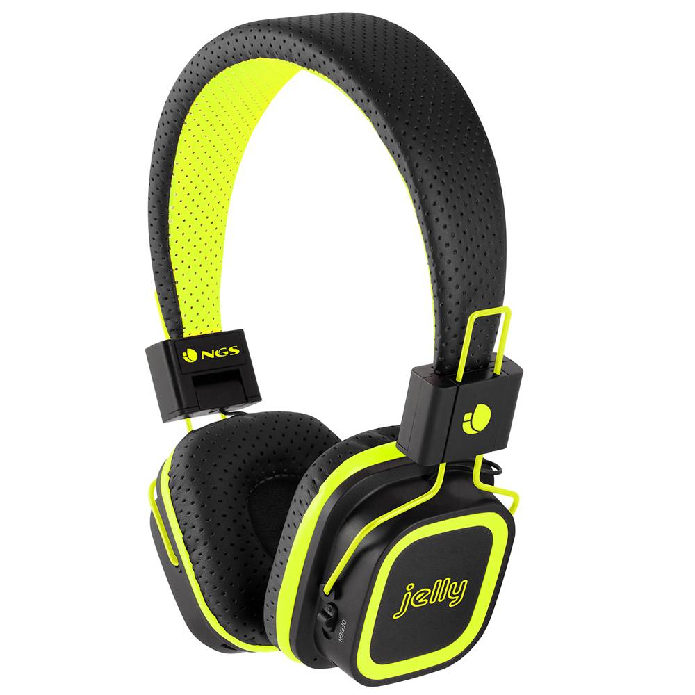NGS Artica Jelly Wireless BT Stereo Headphones with Micro SD Card Slot - Yellow