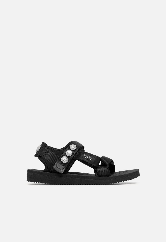 John Elliott JE X Blackmeans X Suicoke Lotus Sandal / Black (JE X Blackmeans X Suicoke Lotus Sandal / Black / US 9)