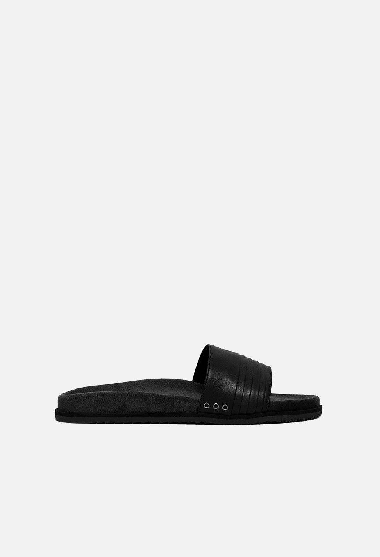 John Elliott Leather Slides / Black (Leather Slides / Black / EU 45)