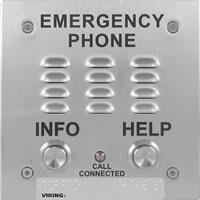 Viking E-1600-20A-EWP ADA Compliant Elevator Emergency Phone with Enhanced Weather Protection