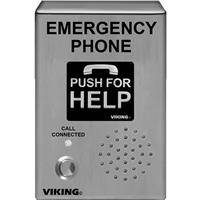 Viking E-1600-03B-EWP ADA Compliant Handsfree Emergency Phone with Enhanced Weather Protection/Built-in Auto Dialer and Digital Announcer