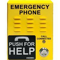 Viking E-1600-45A-EWP ADA Compliant Handsfree Emergency Phone with Enhanced Weather Protection/Built-in Auto Dialer and Digital Announcer