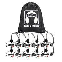 Hamilton Buhl Sack-O-Phones 10 HA2M Personal Headsets with Microphone and Foam Ear Cushions
