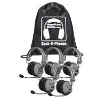Hamilton Buhl Sack-O-Phones 5 HA7M Deluxe Headphones with Microphone