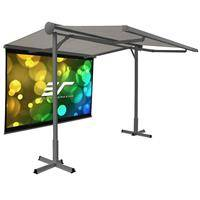 """Elite Screens Yard Master Awning 11x10' Free-Standing Shade with 100"""" Diagonal MaxWhite B DIY Indoor Outdoor Front Projection Screen"""