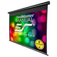 "Elite Screens Yard Master Manual Series MaxWhite 100"" 16:9 4K Ulta HD Outdoor Pull Down Manual Projector Screen"