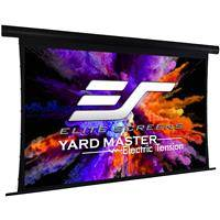 """Elite Screens Yard Master Tension Series WraithVeil Dual 135"""" 16:9 Electric Motorized Outdoor Front/Rear Projection Movie Screen"""
