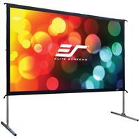 """Elite Screens Yard Master 2 CineWhite 90"""" 16:9 4K Ulta HD Indoor/Outdoor Manual Projector Screen"""