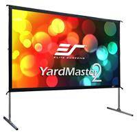 """Elite Screens Yard Master 2 Series WraithVeil 3 90"""" 4K Ultra HD 3D Outdoor Screen with Stand"""