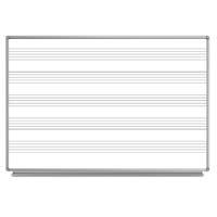 """Luxor 72x48"""" Wall-Mounted Music Magnetic Whiteboard with Marker/Eraser Tray"""