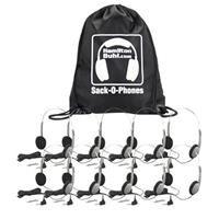 Hamilton Buhl Sack-O-Phones 10 HA1A Personal Headsets with Wire Head Band Foam Ear Cushions