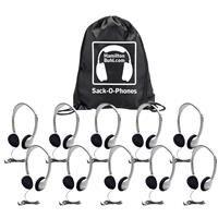 Hamilton Buhl Sack-O-Phones 10 HA2 Personal Headsets with Foam Ear Cushions
