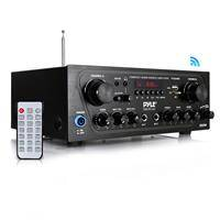 Pyle PTA24BT 250W 2-Channel Compact Bluetooth Home Audio Amplifier with Stereo Receiver