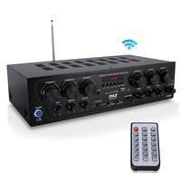 Pyle PTA62BT 750W 6-Channel Bluetooth Home Audio Amplifier with Receiver