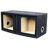 """Deejay LED Double 12"""" Vented Square Woofer Empty Car Speaker Box"""