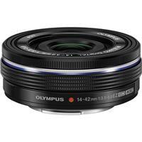 Olympus M. Zuiko Digital 14-42mm f/3.5-5.6 EZ (Electronic Zoom) Pancake Lens - Black - for Micro Four Thirds System