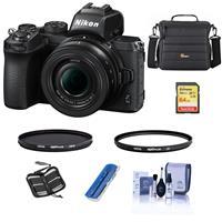 Nikon Z50 Mirrorless Camera with NIKKOR Z DX 16-50mm f/3.5-6.3 VR Lens - Bundle With 64GB SHXC Memory Card - Camera Bag - Hoya 46mm HMC UV Filter - Hoya 46mm HMC Circular Polarizer Filter - And More