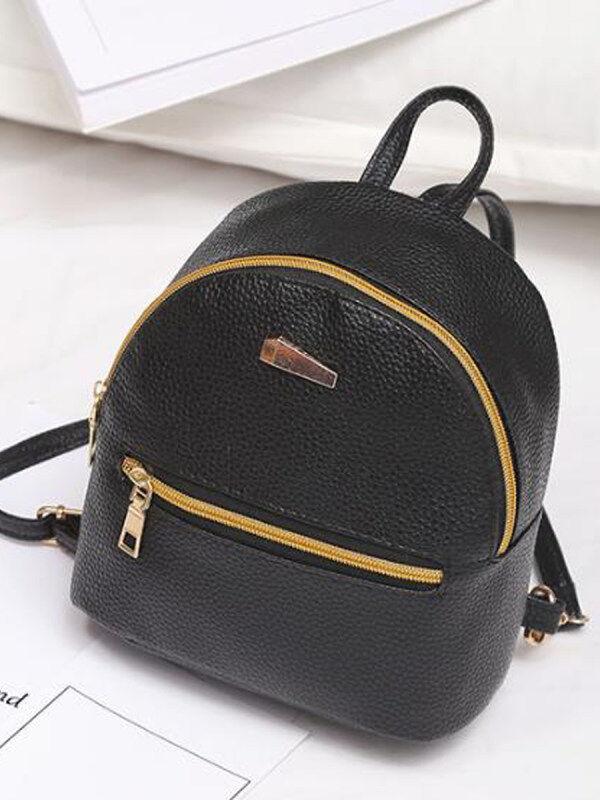 1 New Fashion Zipper Stylish Backpack