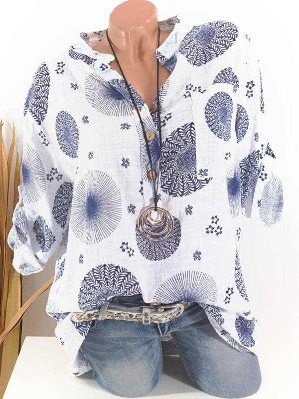 1 Fashion Long-Sleeved  Single-Breasted  Women's Clothing Blouse