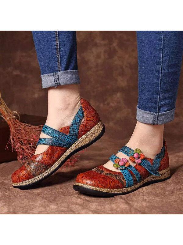 1 Women's retro British flat shoes
