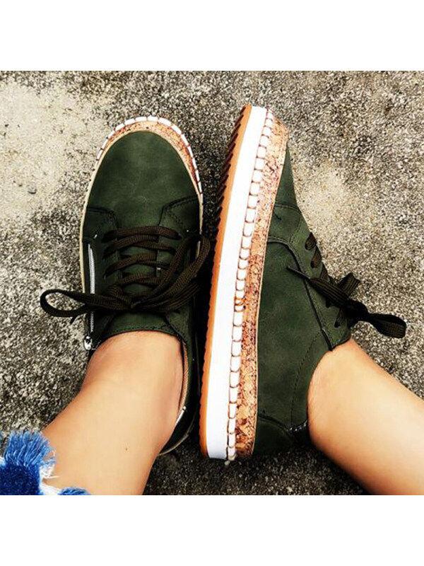 1 Women's lace-up flat shoes