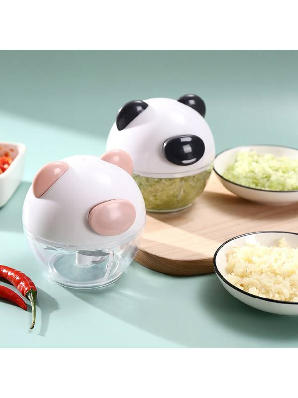 1 Factory direct sales of piglet mini hand-pulled meat grinder dumpling stuffing pound garlic small material crusher kitchen household artifact