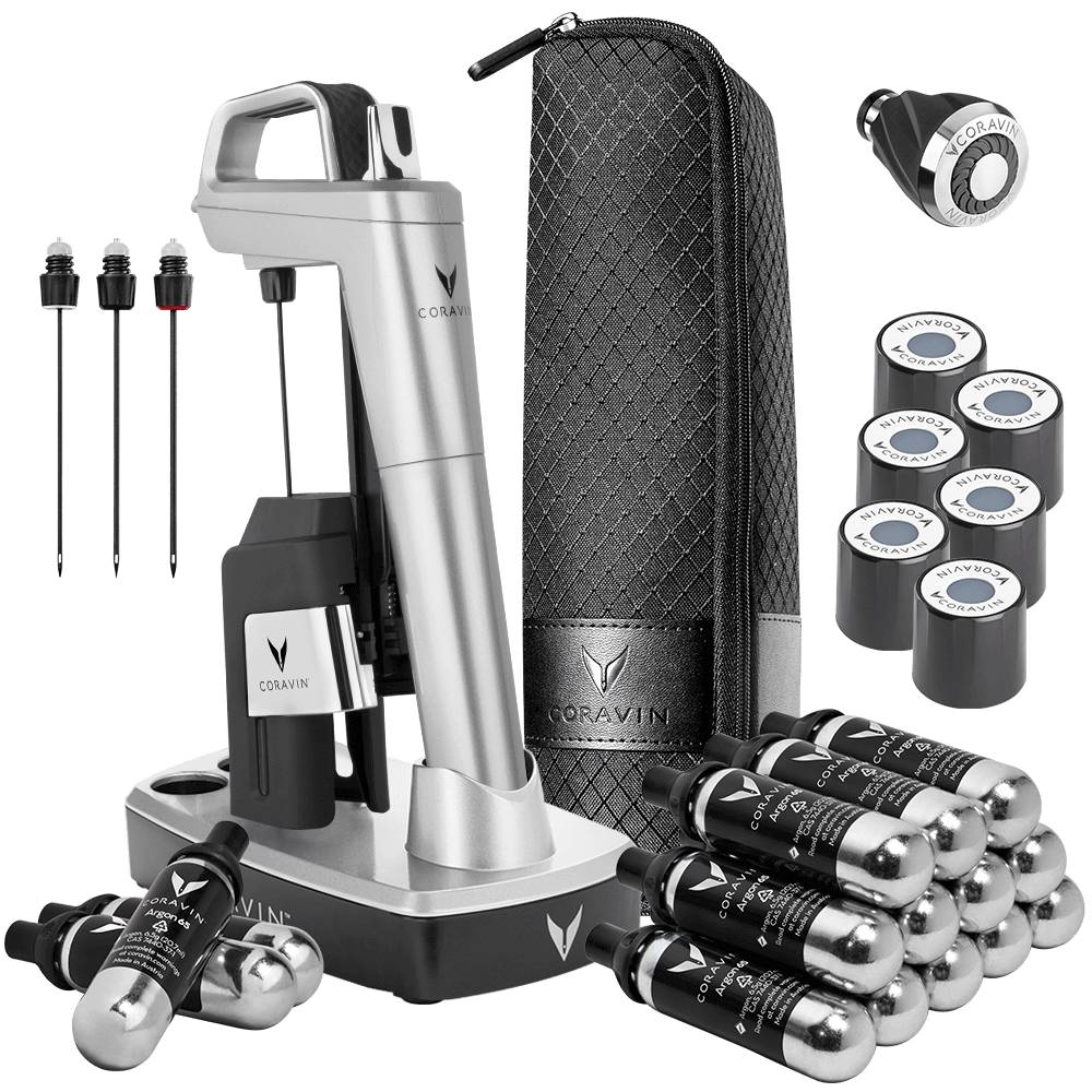 Coravin Model Six Ultimate Wine Journey Pack-Silver