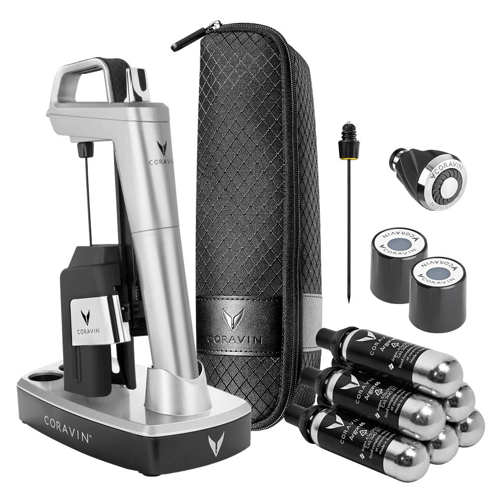 Coravin Model Six Ultimate Wine Lovers Pack-Silver