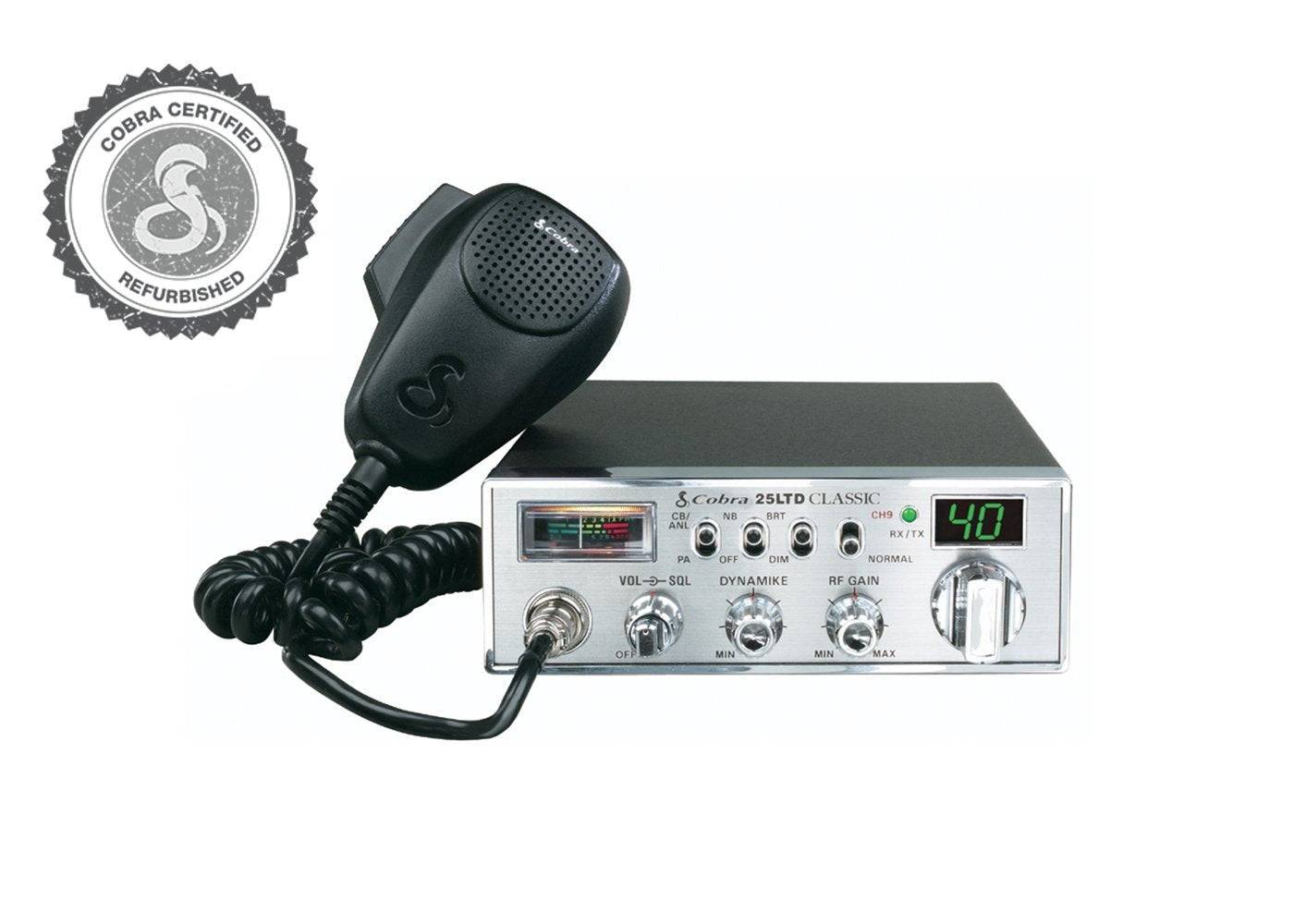 Cobra 25 LTD (Refurb) CB Radio w/ New Front Connection Mic