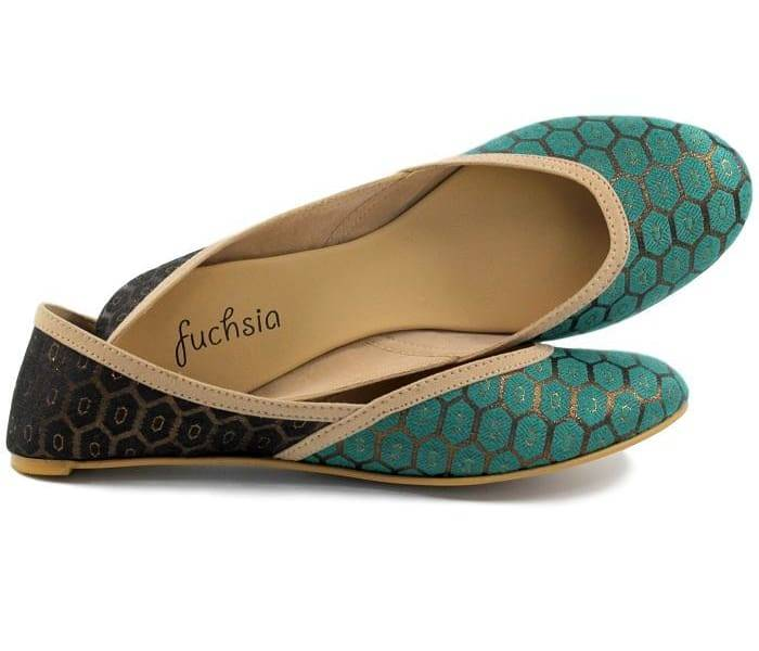 Fuchsia Inc. Antalya Green Limited Edition Vegan Flats